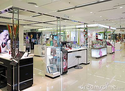 Shopping Mall Cosmetics Counter Editorial Stock Photo