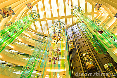 shopping mall decoration Editorial Photography
