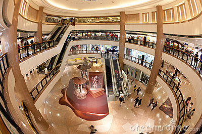 Shopping Mall : Harbour City in Hong Kong Editorial Photography