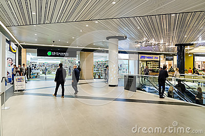 Shopping Mall Inside Editorial Stock Photo