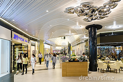 Shopping Mall Inside Editorial Stock Image