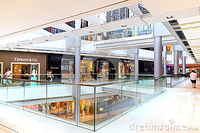 Shopping mall interior Editorial Stock Photo