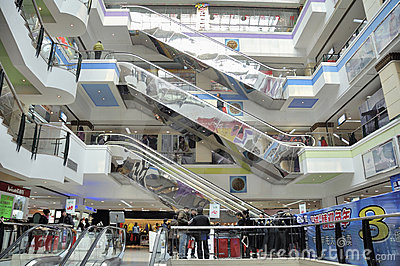 Shopping mall interior, wuhan china Editorial Image