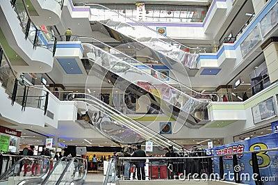 Shopping mall interior, wuhan china Editorial Image