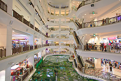Shopping Mall at Kuala Lumpur Editorial Photography