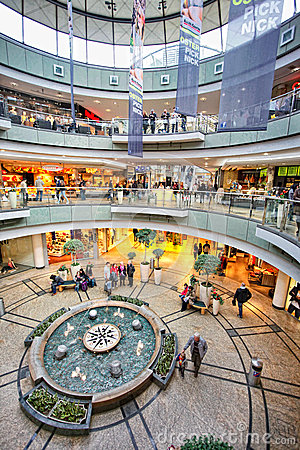 Shopping mall Editorial Stock Photo