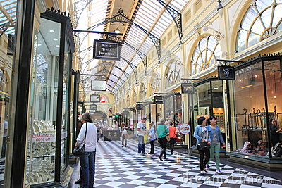 Shopping mall Melbourne Editorial Stock Image