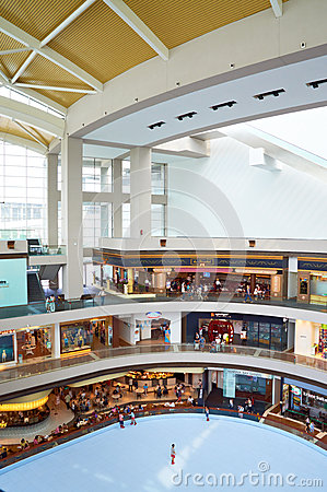Shopping Mall with Skating Rink in Singapore Editorial Image