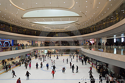 Shopping mall in Wuhan Editorial Photography