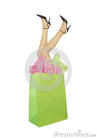 Shopping mania concept