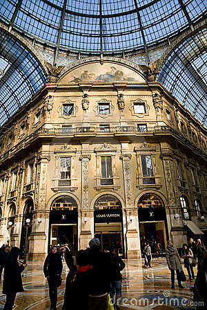 Shopping, Milan Editorial Stock Photo
