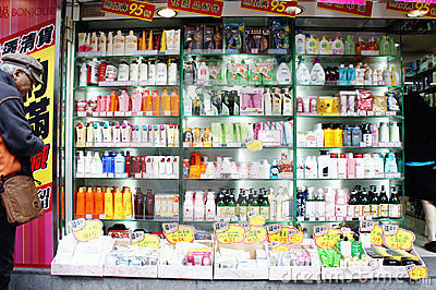 Shopping in Mong Kok Editorial Stock Photo