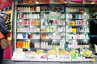 Shopping in Mong Kok Editorial Stock Photo