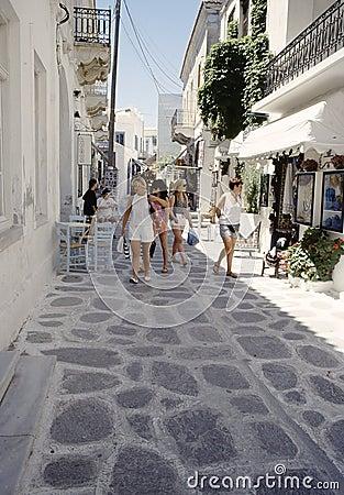 Shopping in Parikia, Cyclades Editorial Photography