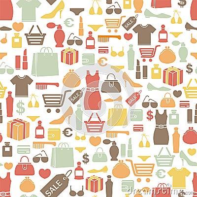 Free Shopping Pattern Royalty Free Stock Image - 25081476