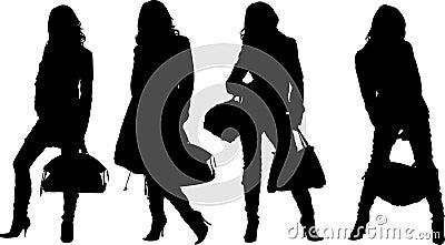 Shopping posing girls