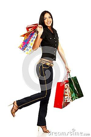Free Shopping Pretty Woman Stock Photos - 1278973
