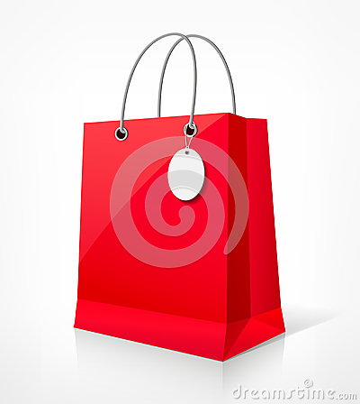 Shopping red bag