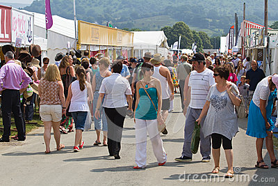 Shopping at the Royal Welsh Show Editorial Photography