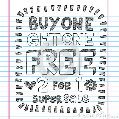 Shopping Sale Back to School Doodles Vector Design