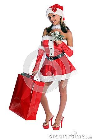 Free Shopping Santa Stock Photo - 1340870