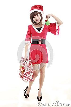 Shopping santa girl
