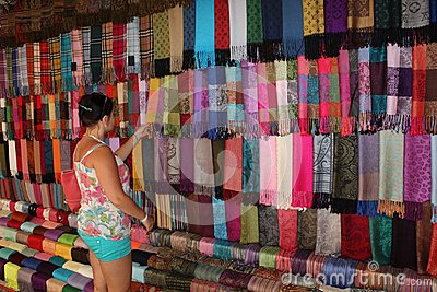 Shopping for the scarves