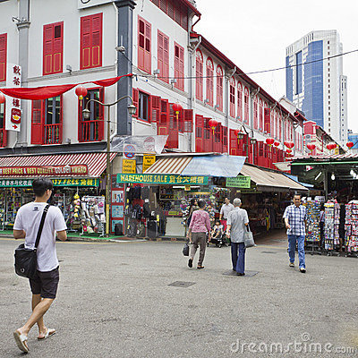 Shopping at Singapore s chinatown Editorial Stock Photo