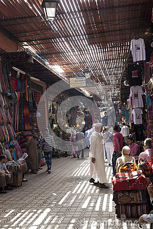 Shopping in the Souk of Marrakesh Editorial Stock Image