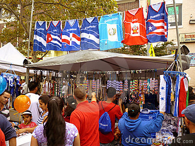 Shopping for Souvenirs at the Latino Festival Editorial Photography