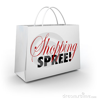 Shopping Spree Bag Marketplace Store Spending Money