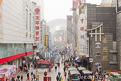 shopping street Editorial Photo