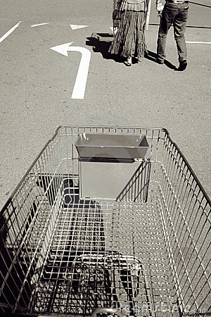 Shopping trolley or cart