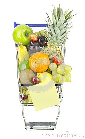 Shopping Trolley and Fruit