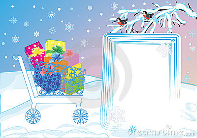 Shopping trolley with gifts
