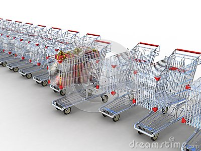 Shopping trolley and gifts