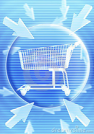 Shopping Trolley With Graphic Effect