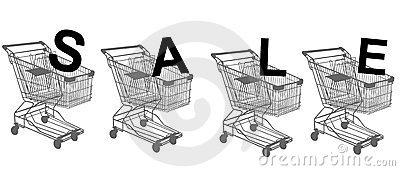 Shopping trolley isolated on white