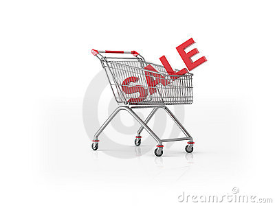 Shopping trolley Sale illustration
