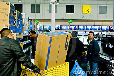 Shopping for TV Editorial Photography