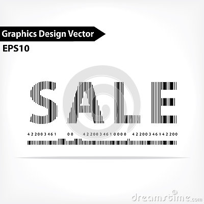 Shopping typography barcode design