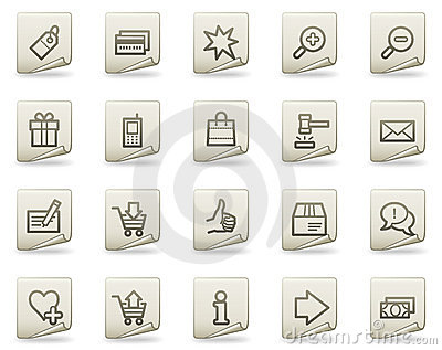 Shopping web icons, document series