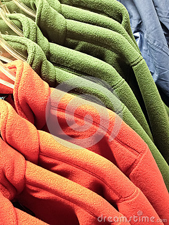 Shopping for winter - warm multicolored fleece