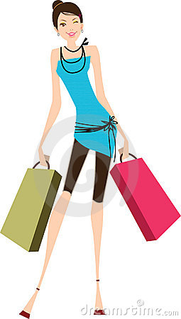 Free Shopping Woman Stock Photography - 17966442
