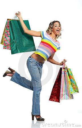 Free Shopping Woman Stock Images - 4237834