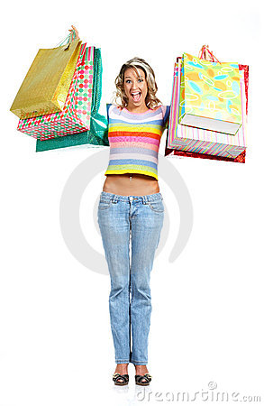 Free Shopping Woman Royalty Free Stock Images - 4844979