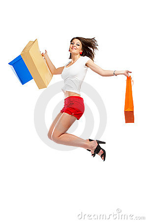 Free Shopping Woman Stock Image - 5148391