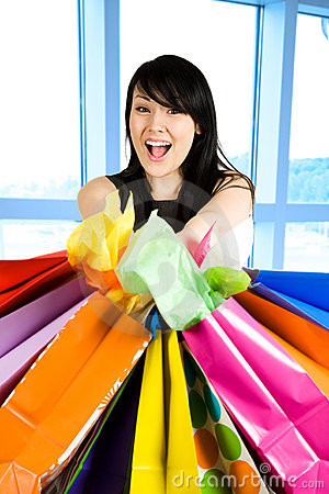 Free Shopping Woman Stock Image - 5450361