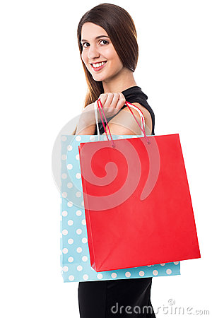 Shopping woman carrying bags