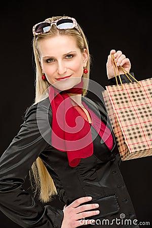 Free Shopping Woman Fashion Happy Bag Royalty Free Stock Photo - 19010285